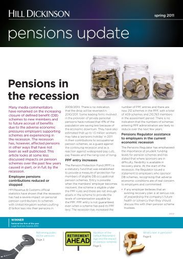 pensions update spring 2011.indd - Hill Dickinson