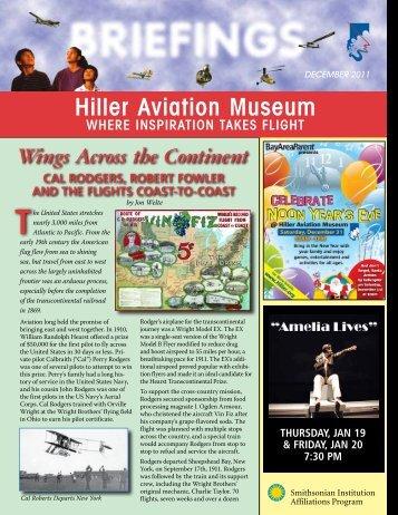 December 2011 - Hiller Aviation Museum