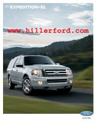 2013 Ford Expedition Brochure - Hiller Ford Inc.