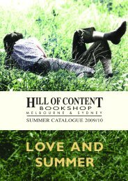 CONTEN ILL OF - Hill of Content Bookshop