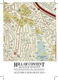 Autumn 2013 - Hill of Content Bookshop