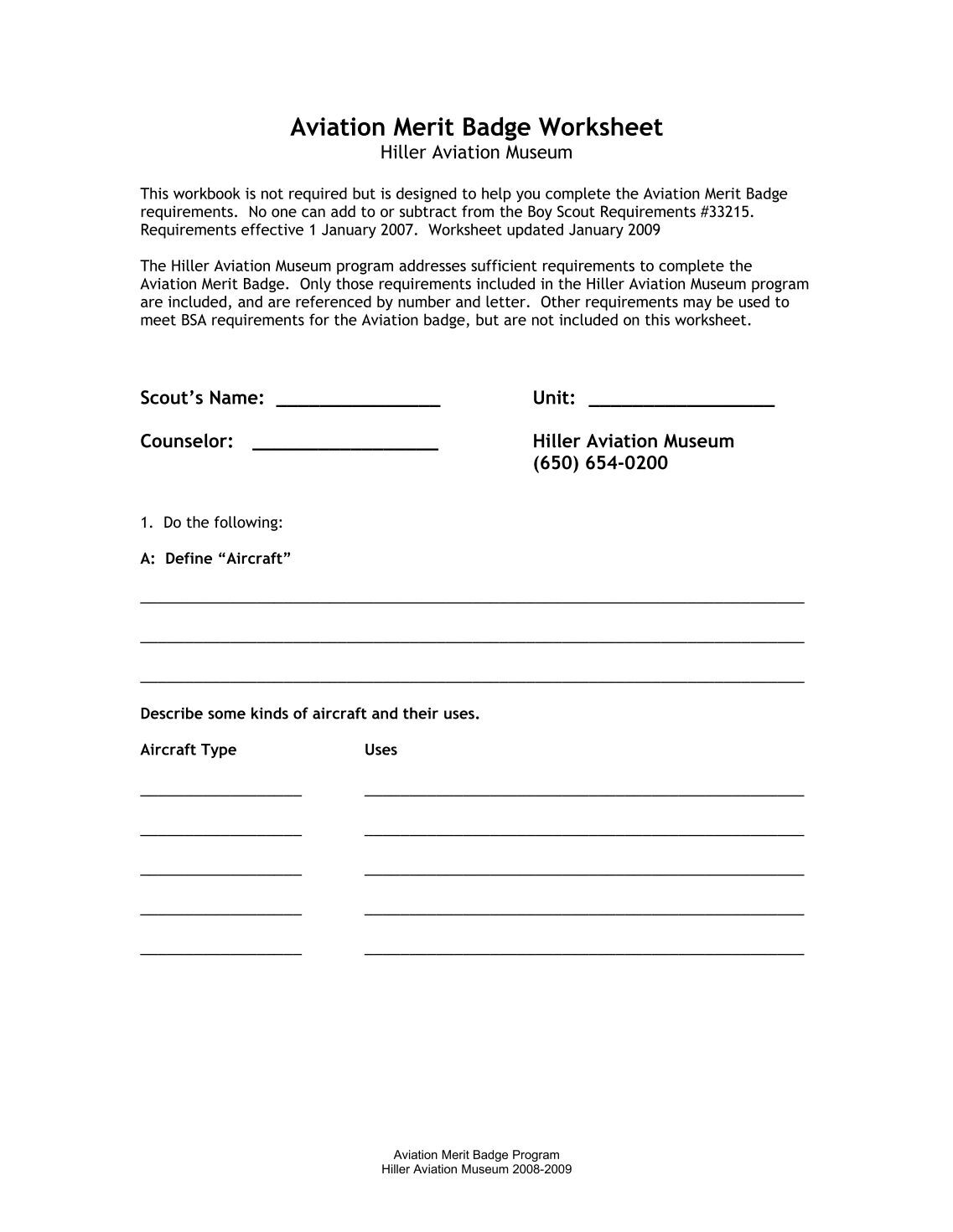 Worksheets. Family Life Merit Badge Worksheet. atidentity.com Free ...