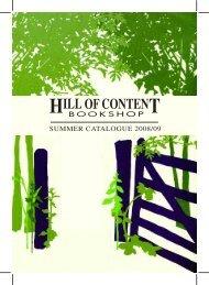 Summer 2008/2009 - Hill of Content Bookshop
