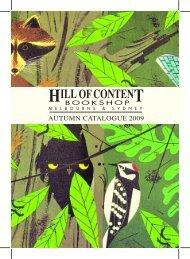 Autumn 2009 - Hill of Content Bookshop