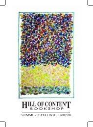 Summer 2007/2008 - Hill of Content Bookshop