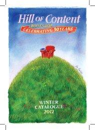 Winter 2012 - Hill of Content Bookshop