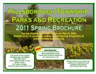 Hillsborough Parks and Recreation Fall 2008 Recreation Brochure