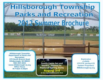 Parks & Recreation Brochure - Hillsborough