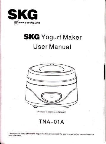 SKG Yogurt Maker