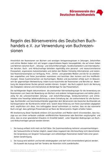Buchwerbung mit Vergleichspreisen - Börsenverein des Deutschen ...