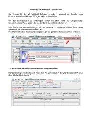 Anleitung VR-NetWorld Software 5.0 - Volksbank Rhein-Wehra eG