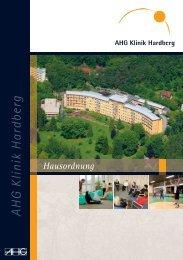 Hausordnung - AHG Allgemeine Hospitalgesellschaft