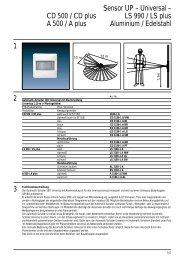 CD 500 / CD plus LS 990 / LS plus A 500 / A plus Aluminium ...