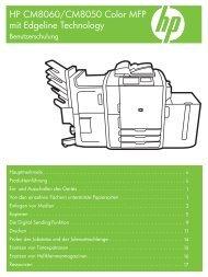HP CM8060/CM8050 Color MFP with Edgeline ... - Hewlett Packard