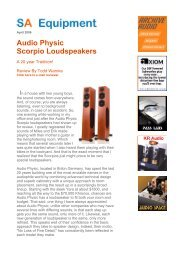 Audio Physic Scorpio Loudspeakers