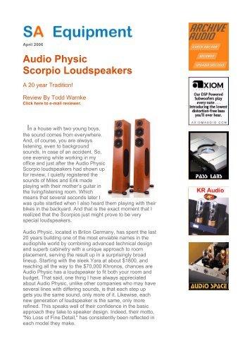 Audio Physic Scorpio Loudspeakers