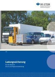 Ladungssicherung - Die BG ETEM