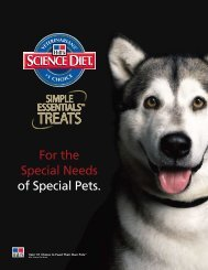 For the Special Needs of Special Pets. - HillsVet