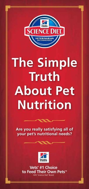 The Simple Truth About Pet Nutrition - HillsVet