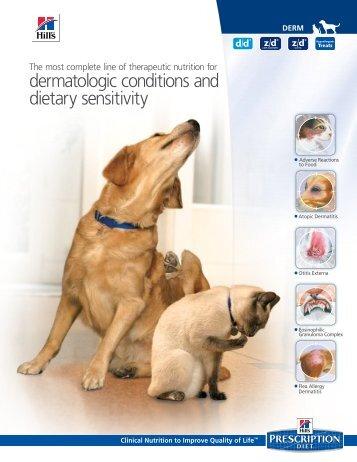 dermatologic conditions and dietary sensitivity - HillsVet