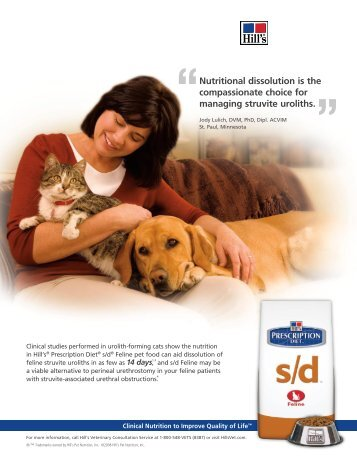 Nutritional dissolution is the compassionate choice for ... - HillsVet
