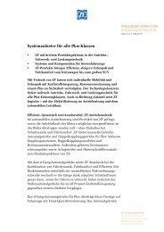 Systemanbieter für alle Pkw-Klassen - ZF Friedrichshafen AG
