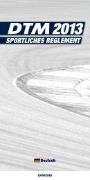 DTM Sportliches Reglement - ADAC Motorsport
