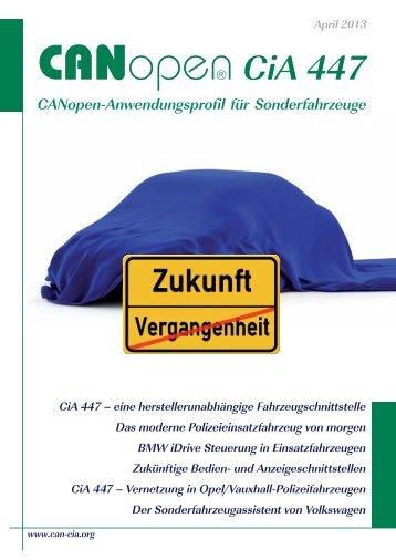 CANopen-Anwendungsprofil für Sonderfahrzeuge - CAN in ...