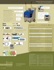 Cleaning Companion Features and Accessories Guide - Hillyard Inc.