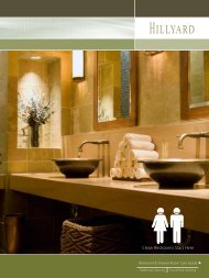 Restroom and Shower Room Care Guide - Hillyard Inc.