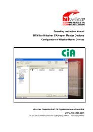 DTM for Hilscher CANopen Master Devices