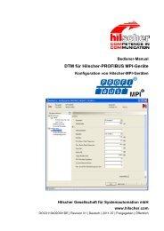 DTM für Hilscher-PROFIBUS MPI-Geräte