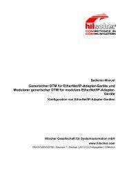 Generischer DTM für EtherNet/IP-Adapter-Geräte und Modularer ...