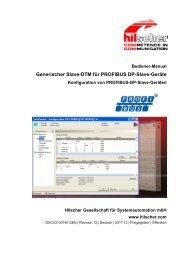 Generischer Slave-DTM für PROFIBUS DP-Slave-Geräte