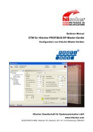 DTM für Hilscher-PROFIBUS-DP-Master-Geräte