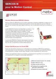 SERCOS III pour le Motion Control - Hilscher