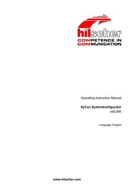 SyCon System Configurator netLINK - Hilscher