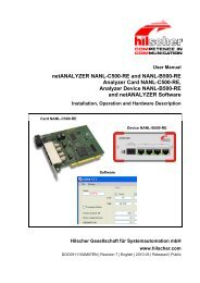 netANALYZER NANL-C500-RE and NANL-B500-RE - Hilscher