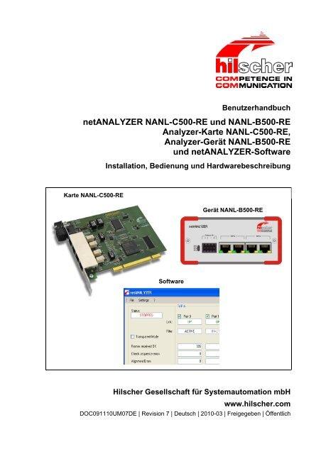 netANALYZER NANL-C500-RE und NANL-B500-RE - Hilscher