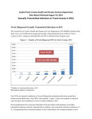 Sexually Transmitted Infections in Travis County ... - AustinTexas.gov