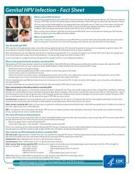 Genital HPV Infection - Fact Sheet - Centers for Disease Control and ...