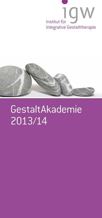 GestaltAkademie 2013/14 - IGW Institut für integrative ...