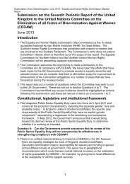 Submission on the Seventh Periodic Report of the United Kingdom ...