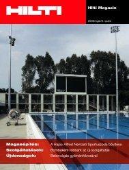 Hilti Magazin Magasépítés: A Hajós Alfréd Nemzeti ... - WebDream