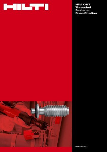 Hilti X-BT Threaded Fastener Specification