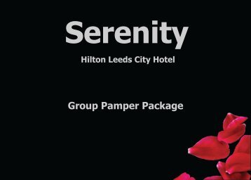 Serenity Group Pamper Package