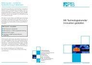 Mit Technologietransfer Innovation gestalten - PTB