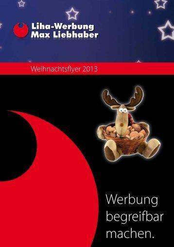 Weihnachtsflyer 2013 - Liha Werbung