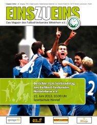 EINSZUEINS 02/2013 - Fußball-Verband Mittelrhein e.V.