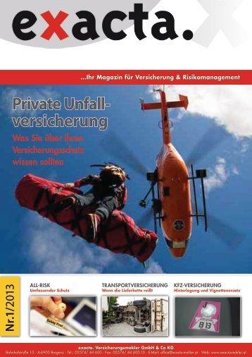 Download PDF - exacta. Versicherungsmakler